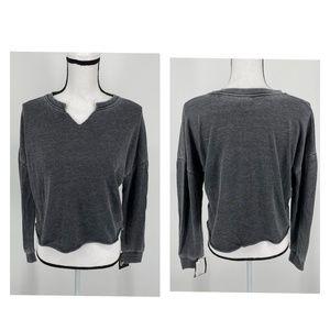 Art Class Girls' Cut Out V-Neck Sweatshirt Black